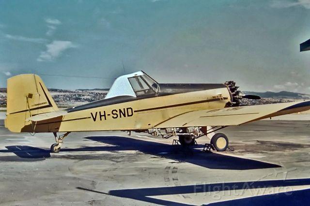 NURTANIO Aviocar (VH-SND) - AERO COMMANDER SNOW S2D-600 - REG : VH-SND (CN 1381D) - PARAFIELD ADELAIDE SA. AUSTRALIA - YPPF (29/11/1969)35MM SLIDE CONVERSION USING A LIGHTBOX AND A NIKON L810 DIGITAL CAMERA IN THE MACRO MODE