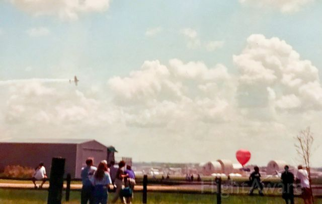 — — - Taken April 2003.  The first air show hosted at Donaldson Center in 11 years and the last one to date.  The show features the Thunderbirds, an F-117 and a variety of others.