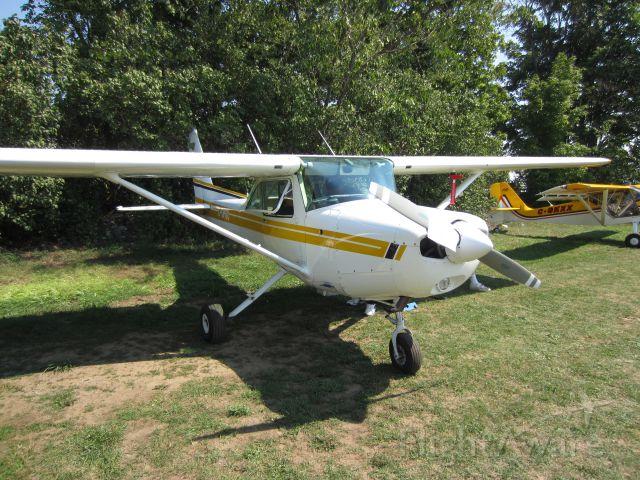 Cessna 152 (C-GPOO) - Cessna 152 at an ultra light fly-in at an airfield near Kingston