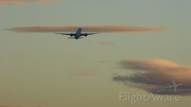 BOEING 777-300 (A6-EBE) - An Emirates B777-300ER taking off from EDDF to OMDB in the evening.