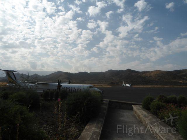 de Havilland Dash 8-400 — - Dash400 at Lalibela Airport, Ethiopia