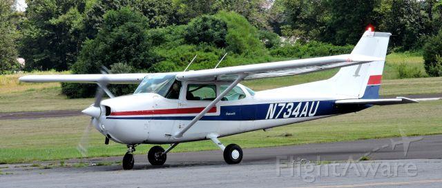 Cessna Skyhawk (N734AU) - This 1977 Cessna Skyhawk is awaiting their turn, summer 2019.