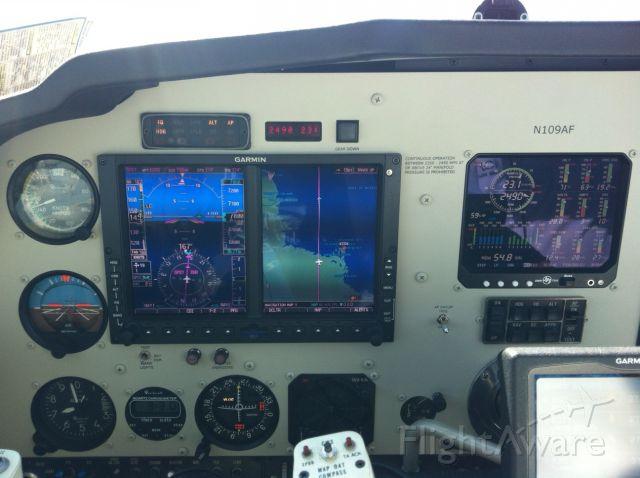 Beechcraft Bonanza (33) (N109AF) - Abeam Cedar Key, FL headed southbound