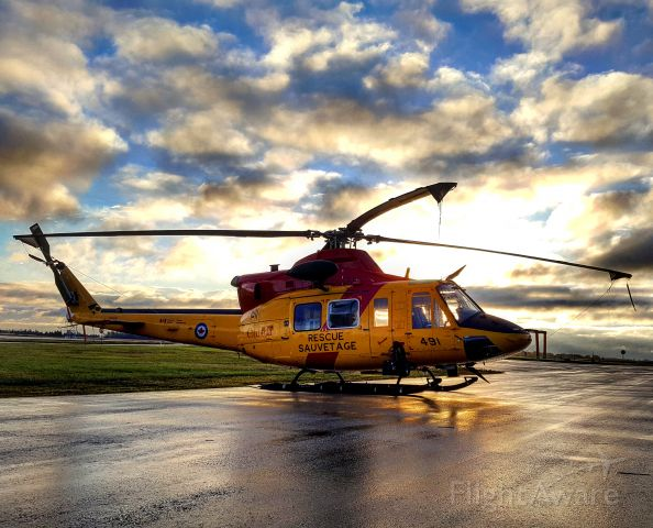 Bell 412 (14-6491) - Search and Rescue CH-146 Griffon sunrise