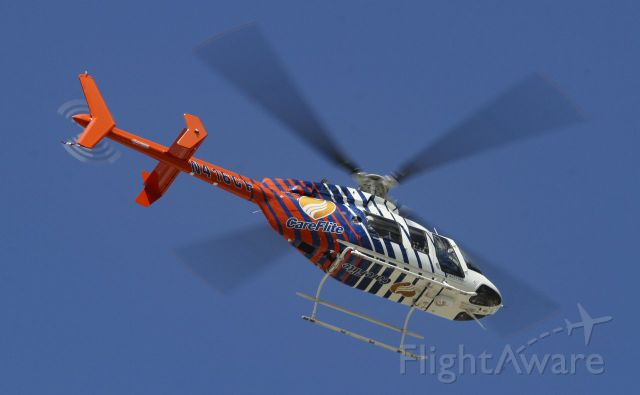 Bell 407 (N416CF) - CareFlite Bell 407GX departing Baylor Scott & White hospital in Temple, Texas