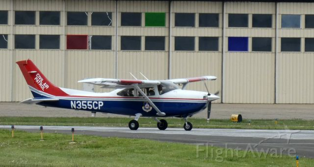 Cessna Skylane (N355CP) - On the active runway for departure is this 2005 Cessna Skylane 182T in the Spring of 2020.