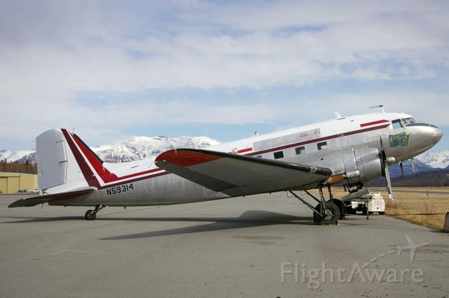 Douglas DC-3 (N59314) - Abbe Air  DC3 seen on the tarmac of the PAAQ airport.