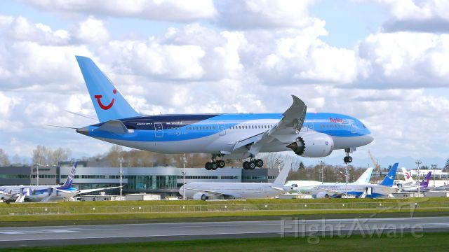 Boeing 787-8 (PH-TFM) - BOE324 on final to Rwy 16R to complete its B1 flight on 3/12/15. (ln 281 / cn 36429).