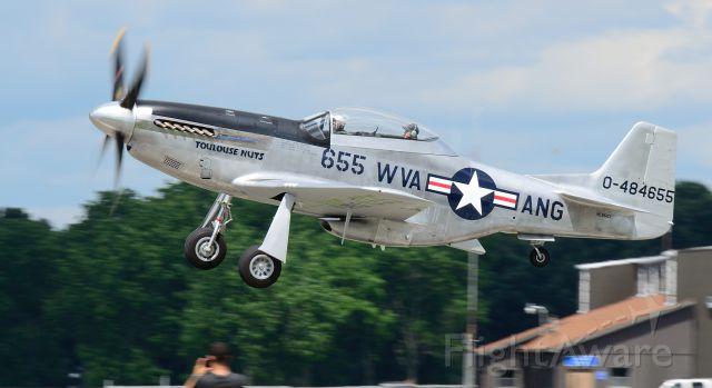 North American P-51 Mustang (N551CF) - Departing runway 26
