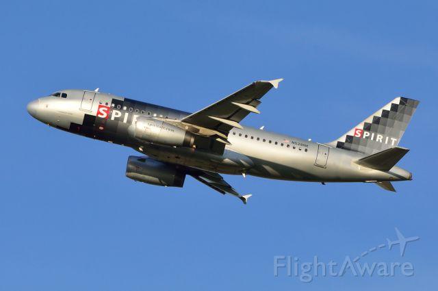 Airbus A319 (N528NK) - Spirit - A319 - N528NK - Departing KDFW 06/29/2013
