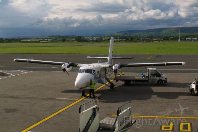 De Havilland Canada Twin Otter (G-BVVK) - Flybe De Havilland Canada DHC-6-300 Twin Otter G-BVVK in Glasgow International
