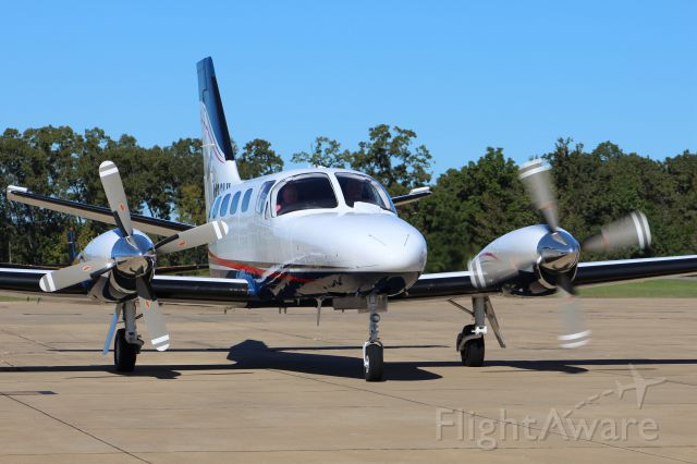 Cessna Conquest 2 (N123HL) - C441 Turbo starting engine one!