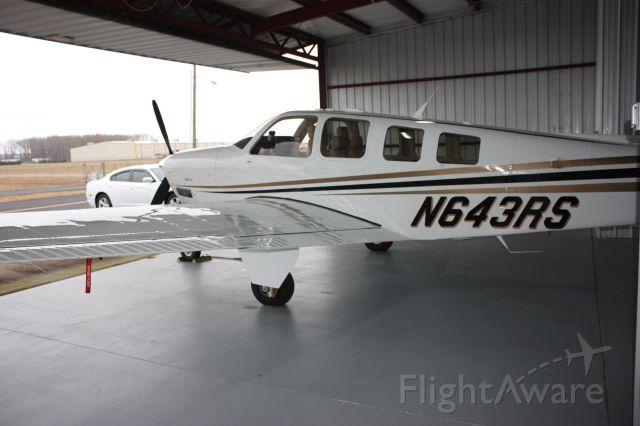 Beechcraft Bonanza (36) (N643RS) - Hanger