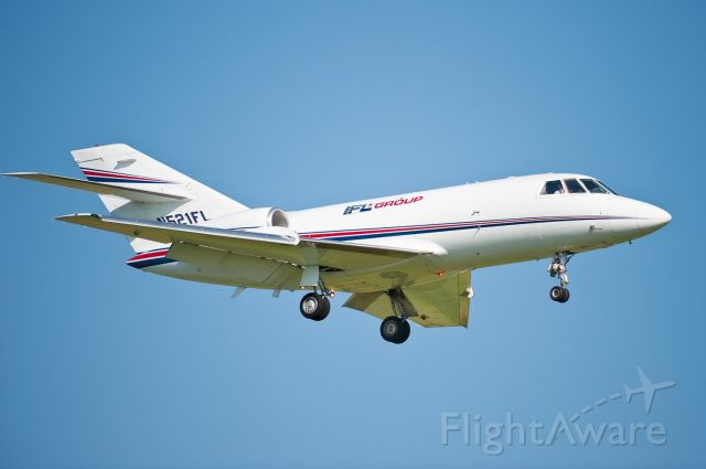 Dassault Falcon 20 (IFL521) - Arriving Hickory on Rwy 24 - 5.May.10