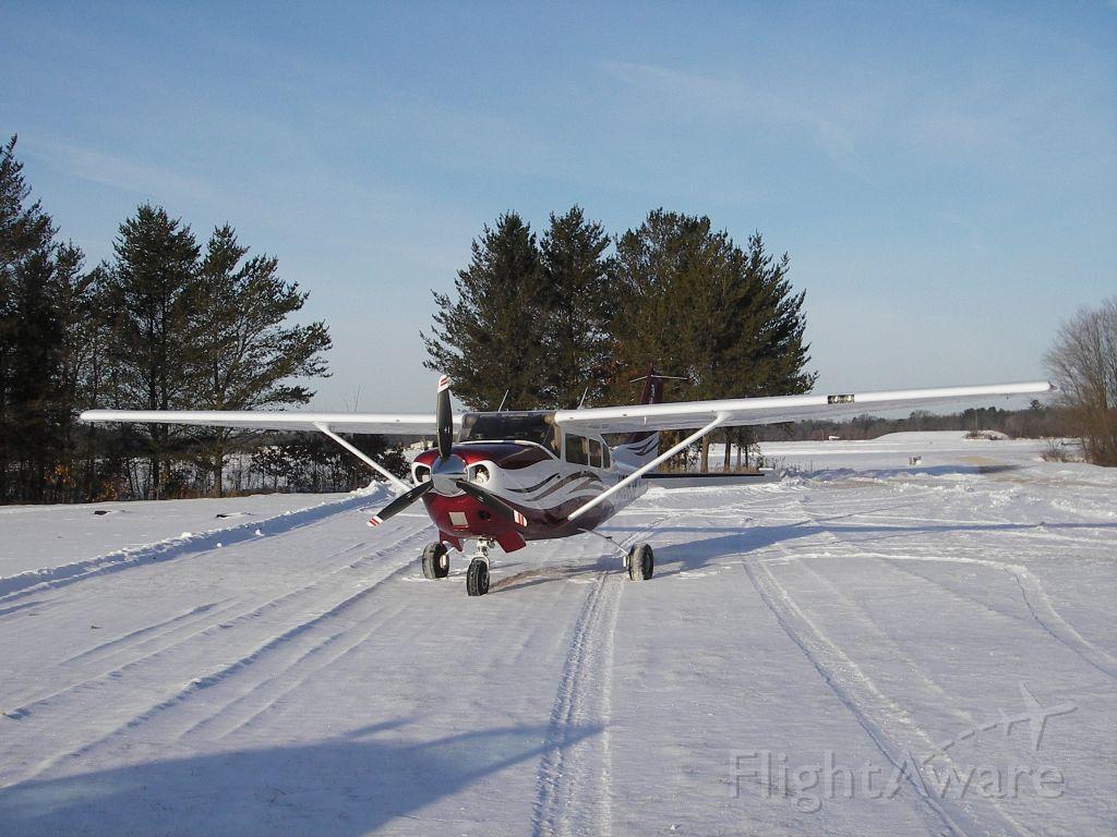 Cessna 206 Stationair (N6063K) - LANDING AT PREHN CRANBERRY FARM  20 below!
