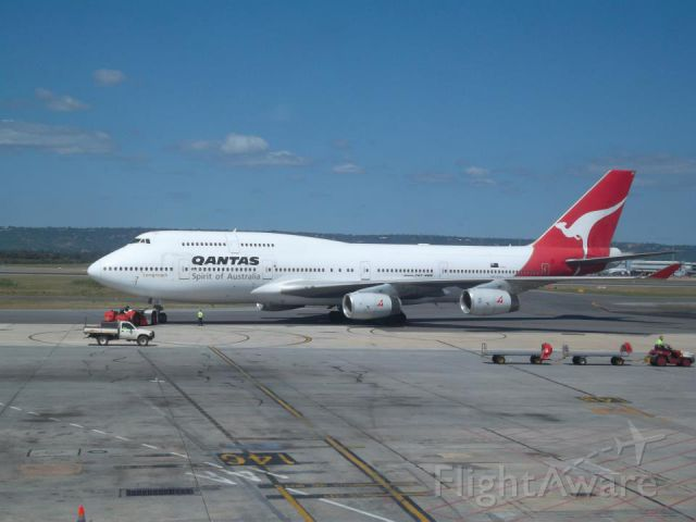 Boeing 747-200 (VH-OJD) - This Aircraft is a Boeing 747-400 not -200 Flight aware changed my original input.