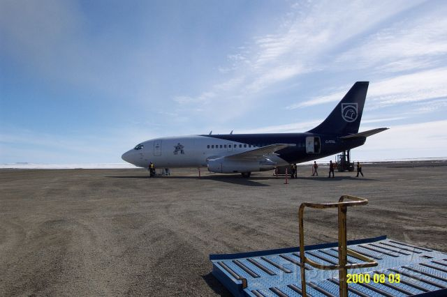 Boeing 737-200 (C-FFAL) - Xstrata Nickel airplane on ground at CTP9 airport in Nunavik