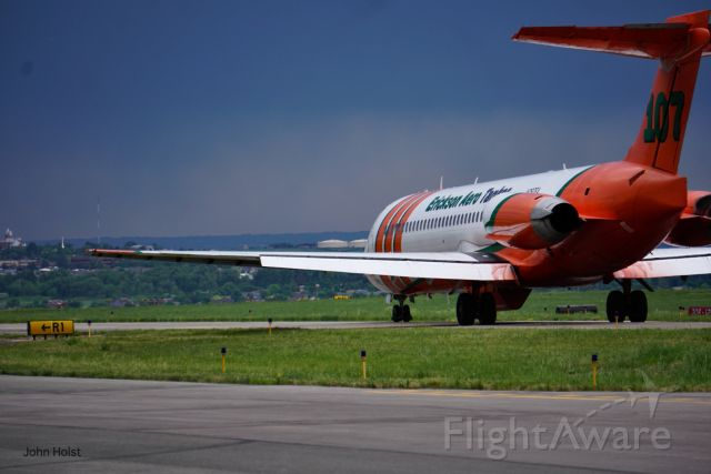McDonnell Douglas MD-87 (N297EA) - Erickson Tanker 107 taxiing out for a mission near Steamboat Springs.