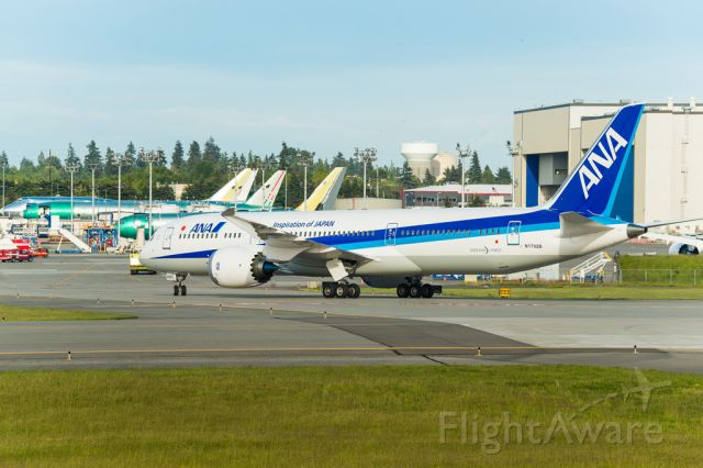 Boeing Dreamliner (Srs.8) (N1792B) - Boeing 787-9 ANA after completing a series of tests over the Pacific ocean
