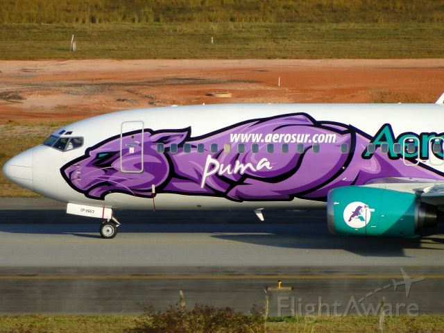"""BOEING 737-400 (CPZ2653) - Special colors """"Puma""""."""