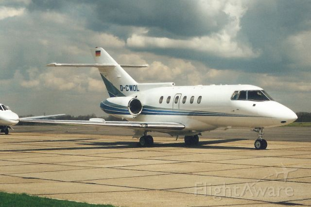 Raytheon Hawker 800 (D-CWOL) - Seen here in Apr-00.<br /><br />Reverted to OY-RAA 30-Apr-03,<br />then reregistered N25JL 19-Mar-19.<br />Registration cancelled 9-May-19.