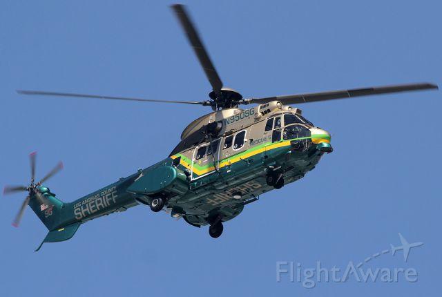 TUSAS Cougar (N950SG) - Super Puma - flying over the Burbank