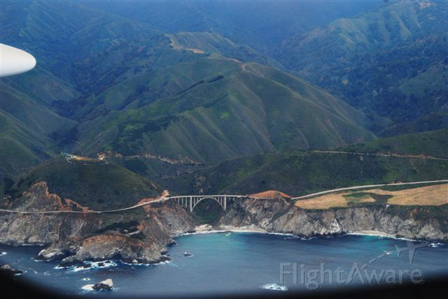 Eclipse 500 (N145EA) - Pacific Coast Highway south of Monterey, CA.