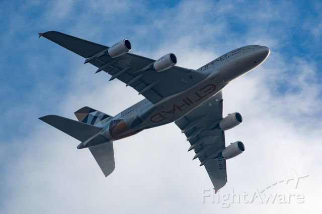 Airbus A380-800 (A6-APB) - Final approach to JFK over Long Island
