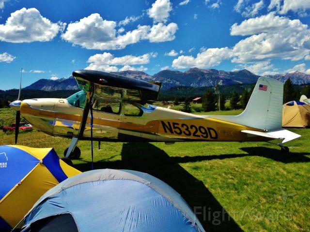Cessna Skywagon 180 (N5329D) - Photo taken at an aircraft meeting in Idaho.