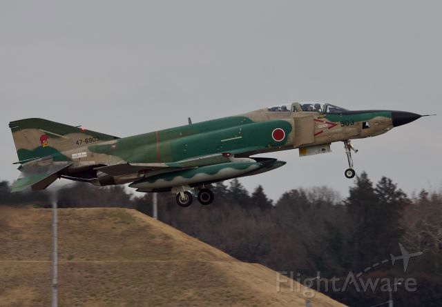 "McDonnell Douglas F-4 Phantom 2 (47-6903) - RF-4EJ of the 501st Tactical Reconnaissance Squadron returning to Hyakuri Air Base after an afternoon sortie (please view in ""full"" for highest image quality)"