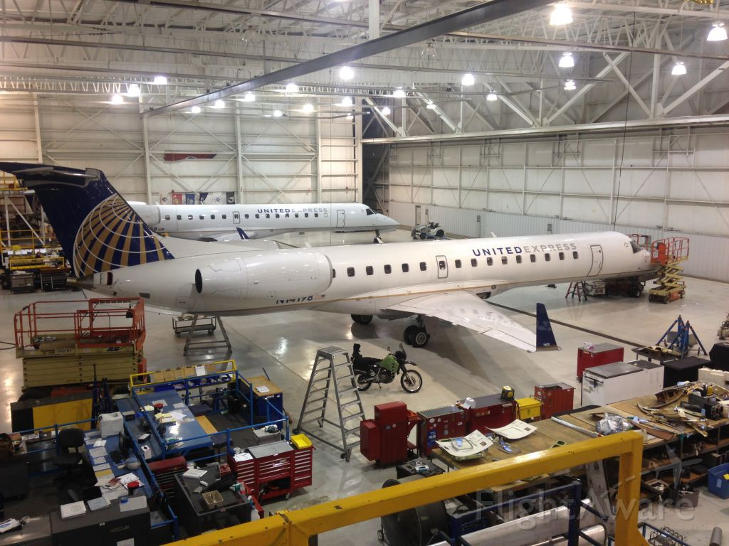 Embraer ERJ-135 (N14198) - KTYS United airline (express jet) Maintenance facility.