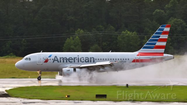 Airbus A319 (N815AW) - American Airlines Airbus A319 (N815AW) arrives at KRDU Rwy 23R on 6/24/2017 at 7:04 pm.