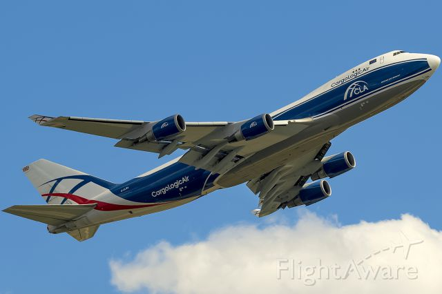 Boeing 747-400 (G-CLBA) - First Picture at FA!!! The second 747-400 of Cargologic Air!! 2017-08-07