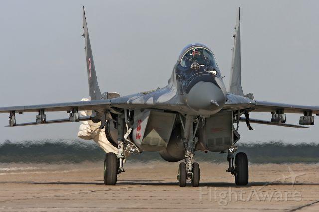 — — - Polish Air Force MiG-29 at Minsk-Mazowiecki air base