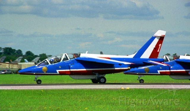 DASSAULT-BREGUET/DORNIER Alpha Jet — - 1997 Royal International Air Tattoo French Aerobatic Team. Alpha Jet