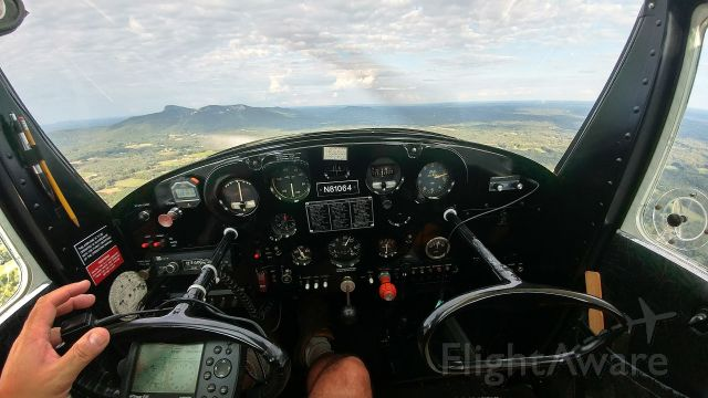 Cessna 120 (N81064) - North Carolina's Sauratown Mountains on the horizon. Best relaxation therapy flying the 120 on a calm evening.