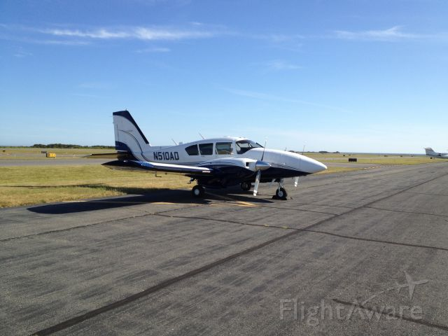 Piper Aztec (N510AD) - No grass parking today, all asphalt here in Nantucket.