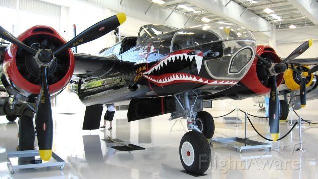"Cessna Skylane (N34538) - Douglas A-26 ""Feeding Frenzy"" at new Lyon Air Museum"