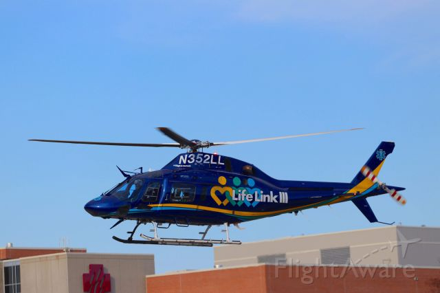 N352LL — - N352LL seen here Taking off from the Marshfield Clinic Health System Helipad in Marshfield, WI.