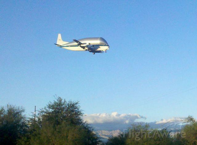 Aero Spacelines Super Guppy (NASA941) - Supper Guppy on final to DM AFB in Tucson.