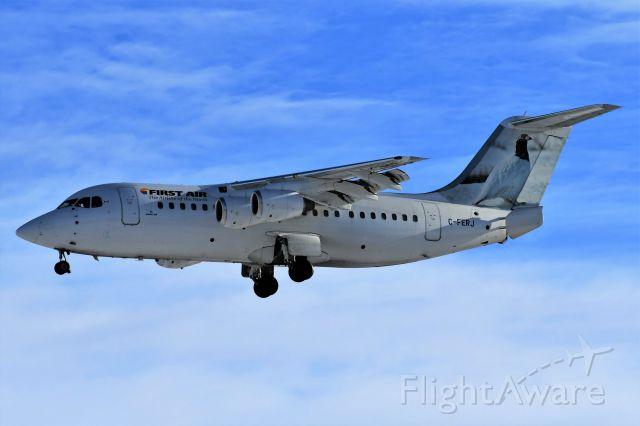 Avro Avroliner (RJ-85) (C-FERJ) - First Air Avro RJ85 arriving at YYC on Jan 1.