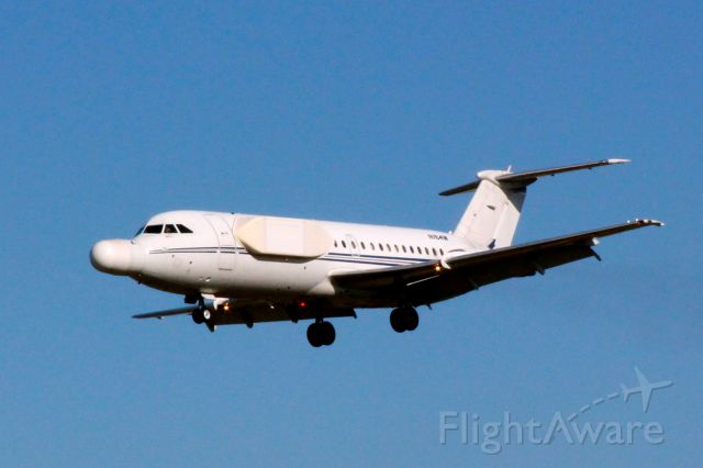 N164W — - This jet owned by Northrop Grumman, a BAC 111-401AK seen here landing at BWI.  The shot was taken from the Thomas Dixon Observation Park on March 29, 2012.