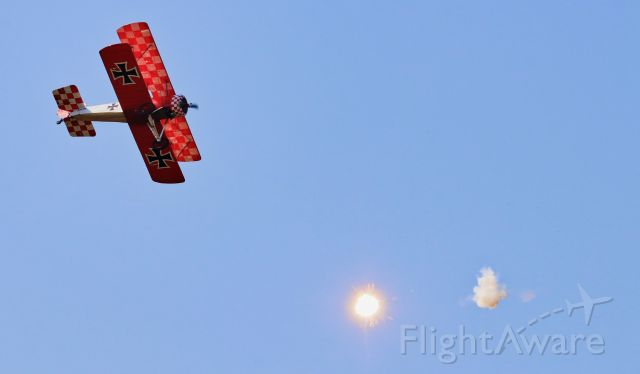 N567HC — - (HAM HOWARD S - Built) SOPWITH PUP being 'shot' at with pyrotechnics at Wings Over Winston 5 OCT 2019