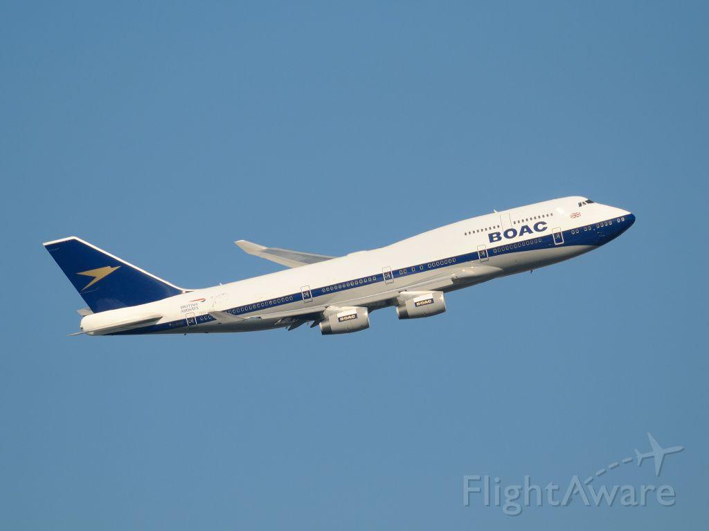 Boeing 747-400 (G-BYGC) - Painted as retro BOAC