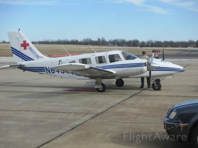 Piper Seneca (N8456H) - N8456H,a 1981 Piper Seneca(PA34) awaiting departure from Joplin,MO to Chicago,ILL.(Midway)