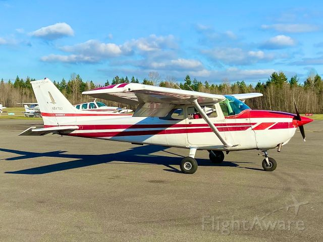 Cessna Skyhawk (N5479D) - N5479D on the ramp outside of Spanaflight before departing to TIW (Tacoma Narrows Airport).  Flaps down for preflight inspection.