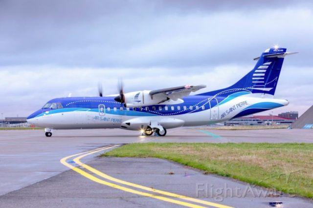 Aerospatiale ATR-42-600 (F-ORLB) - Mis en exploitation à Saint-Pierre et Miquelon en décembre 2020 (arrivé le 13/12)