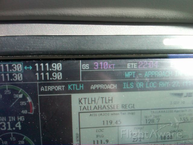 Cessna 400 (N400BA) - 90 knot tail pushing 400BA to 310 Knots over the ground between New Orleans and Tallahassee.