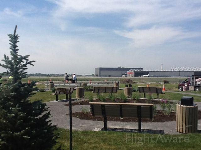 — — - YUL Observation Park for plane spotters beside 6R/24L