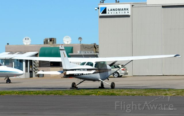 Cessna Skyhawk (N737WA) - N737WA seen parked at Landmark Aviation at KBKL. Please look for more photos at Opshots.net